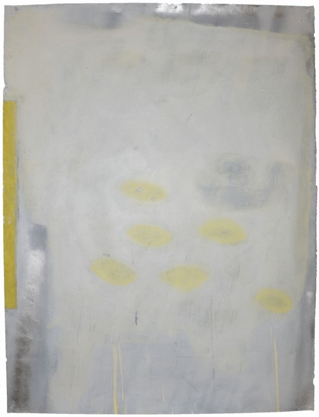 David Donovan Jensen Moon Lemons, 2014 [DDJ.02] Acrylic, pastel, oil, and spray paint on paper 49 ½ x 37 ¾ in.*SOLD