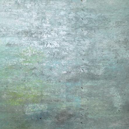 David Donovan Jensen Phthalo Hymn, 2015 [DDJ.18] Acrylic, pastel and spray paint on canvas 48 x 48 in.