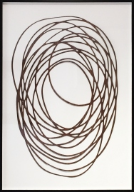 Neal Perbix Untitled, 2017 [NP.32] Walnut Veneer drawing Limited Edition of 10 Framed Dimensions: 35.75 x 25.75 in.