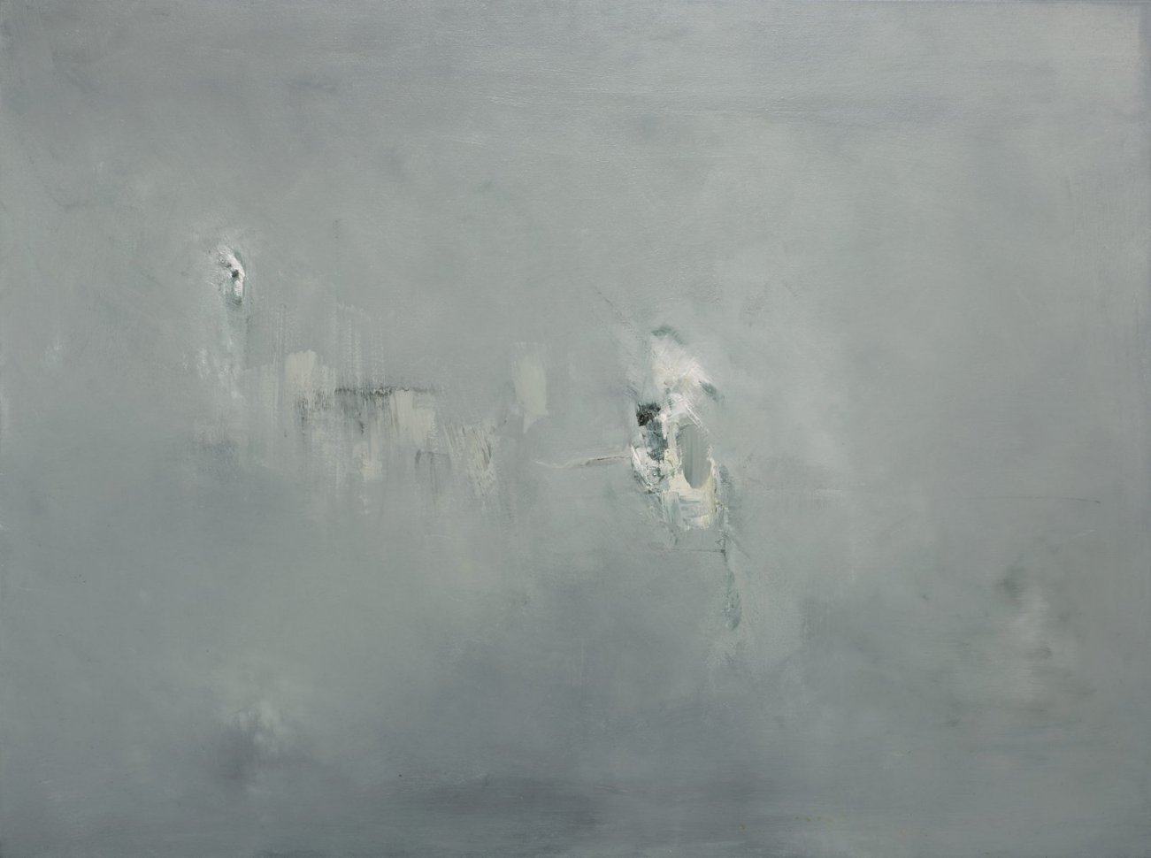Danielle Voight Throe Awaits the Question, 2013 [DV.18] Oil on Canvas 36 x 48 in.