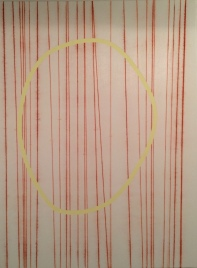 Neal Perbix Untitled #4, 2014 [NP.12] Construction grade chalk on acrylic with tape and Krylon fixative 32 x 24 in.